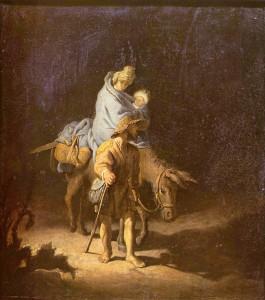 レンブラント作 「エジプトへの逃避」